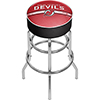 NHL Chrome Bar Stool with Swivel - New Jersey Devils�