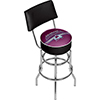NHL Swivel Bar Stool with Back -Colorado Avalanche�