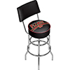 NHL Swivel Bar Stool with Back - Calgary Flames�