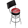 NHL Swivel Bar Stool with Back - Detroit Redwings�