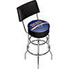 NHL Swivel Bar Stool with Back - Edmonton Oilers�