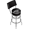 NHL Swivel Bar Stool with Back - Los Angeles Kings�
