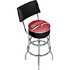 NHL Swivel Bar Stool with Back - New Jersey Devils�