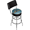 NHL Swivel Bar Stool with Back - San Jose Sharks�