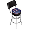 NHL Swivel Bar Stool with Back - Washington Capitals�
