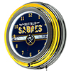 NHL Chrome Double Rung Neon Clock - Buffalo Sabres�