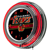 NHL Chrome Double Rung Neon Clock - Calgary Flames�