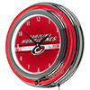 NHL Chrome Double Rung Neon Clock - Carolina Hurricanes�