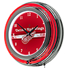NHL Chrome Double Rung Neon Clock - Detroit Redwings�