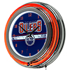 NHL Chrome Double Rung Neon Clock - Edmonton Oilers�