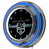 NHL Chrome Double Rung Neon Clock - Los Angeles Kings�
