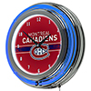 NHL Chrome Double Rung Neon Clock - Montreal Canadiens�