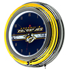 NHL Chrome Double Rung Neon Clock - Nashville Predators�