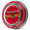 NHL Chrome Double Rung Neon Clock - Ottawa Senators�