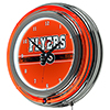 NHL Chrome Double Rung Neon Clock - Philadelphia Flyers�