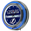 NHL Chrome Double Rung Neon Clock - Tampa Bay Lightning�