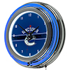 NHL Chrome Double Rung Neon Clock - Vancouver Canucks�