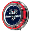 NHL Chrome Double Rung Neon Clock - Winnipeg Jets™