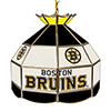NHL 16 Inch Handmade Stained Glass Lamp - Boston Bruins�
