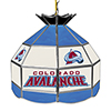NHL 16 Inch Handmade Stained Glass Lamp - Colorado Avalanche�