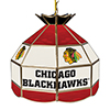NHL 16 Inch Handmade Stained Glass Lamp - Chicago Blackhawks�