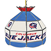 NHL 16 Inch Handmade Stained Glass Lamp - Columbus Blue Jackets�