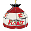 NHL 16 Inch Handmade Stained Glass Lamp - Calgary Flames�