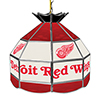 NHL 16 Inch Handmade Stained Glass Lamp - Detroit Redwings�