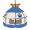 NHL 16 Inch Handmade Stained Glass Lamp - Edmonton Oilers�