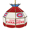 NHL 16 Inch Handmade Stained Glass Lamp - Montreal Canadiens�