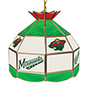 NHL 16 Inch Handmade Stained Glass Lamp - Minnesota Wild�