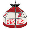 NHL 16 Inch Handmade Stained Glass Lamp - New Jersey Devils�