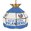 NHL 16 Inch Handmade Stained Glass Lamp - New York Islanders�