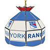 NHL 16 Inch Handmade Stained Glass Lamp - New York Rangers�