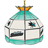 NHL 16 Inch Handmade Stained Glass Lamp - San Jose Sharks�