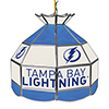 NHL 16 Inch Handmade Stained Glass Lamp - Tampa Bay Lightning�