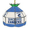 NHL 16 Inch Handmade Stained Glass Lamp - Vancouver Canucks�