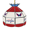 NHL 16 Inch Handmade Stained Glass Lamp - Washington Capitals�