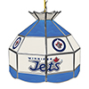 NHL 16 Inch Handmade Stained Glass Lamp - Winnipeg Jets™