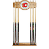 NHL Cue Rack with Mirror - Calgary Flames�