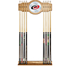 NHL Cue Rack with Mirror - Carolina Hurricanes�