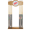NHL Cue Rack with Mirror - Detroit Redwings�