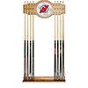 NHL Cue Rack with Mirror - New Jersey Devils�