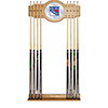 NHL Cue Rack with Mirror - New York Rangers�