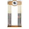 NHL Cue Rack with Mirror - San Jose Sharks�