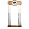 NHL Cue Rack with Mirror - St. Louis Blues�