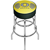 University of Oregon Chrome Bar Stool with Swivel - Wings