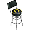 University of Oregon Swivel Bar Stool with Back - Carbon Fiber