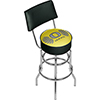 University of Oregon Swivel Bar Stool with Back - Wings
