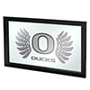 University of Oregon Framed Logo Mirror - Wings